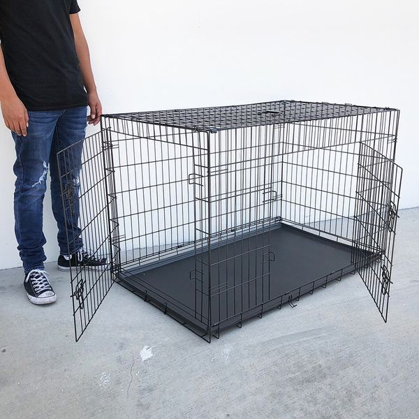 """Brand New $65 Folding 48"""" Dog Cage 2-Door Pet Crate Kennel w/ Tray 48""""x29""""x32"""""""