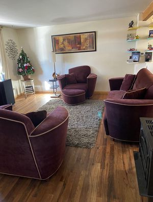 Velvet Mid Century Modern Couch and Chairs set for Sale in Lakewood, CO