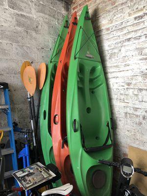 3x Pacific Beach Sprint 120 kayaks w/ oars for Sale in Henrico, VA