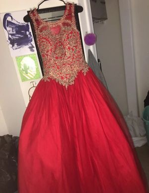 Red and Gold ball gown for Sale in Princeton, NJ