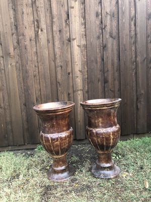 Brown Urns Clay Pots for Sale in Carrollton, TX