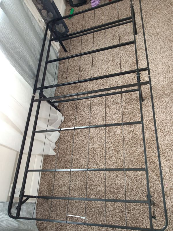 Twin folding bed frame and mattress