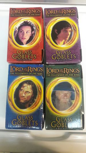 Lord of the Rings glass goblets. Set of 4. $20. for Sale in Laveen Village, AZ