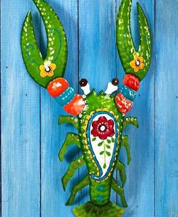 New Large LOBSTER Metal Yard Art With Vibrant Color for Sale in Buena Park,  CA