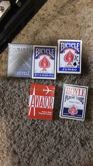 5 deck of cards for Sale in Tucson, AZ