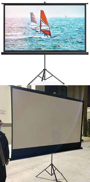 """NEW IN BOX 100"""" diagonal 87x48 inches Portable Projector Screen 16:9 ratio with adjustable tripod stand home movie theater conference room screen for Sale in Whittier, CA"""