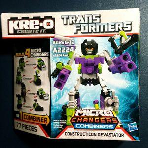 Kre-o Transformers Micro Changers Combiners Constructicon Devastator for Sale in Lincoln, RI