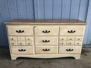 Vintage Solid Oak 9 Drawer Bedroom Dresser for Sale in Fresno, CA