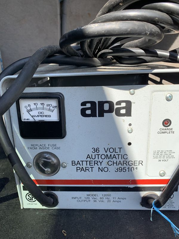 APA 36volt/20amp automatic battery charger floor scrubber