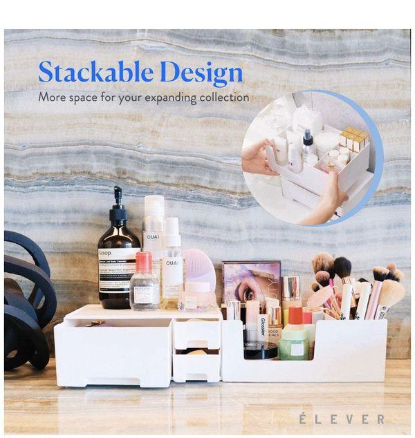 Makeup Organizer - Stackable Make up Organizers and Storage Drawers. Instagramable Makeup Organizer Countertop, Cosmetic Organizer, Desk Organizer, B