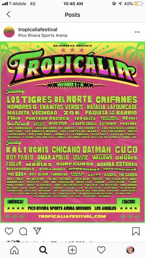 Tropicalia Tickets for Sale in Downey, CA