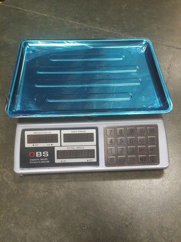 New in box 88lbs 40kg capacity 0.005lbs division accuracy market price conputing produce scale with rechargeable battery use wire or wirelessly
