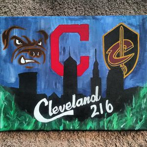 New Cleveland Origanal freehand canvas painting 8 x 10 signed for Sale in Cleveland, OH