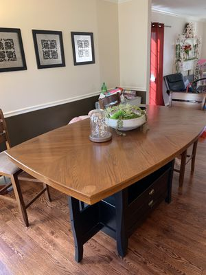 Large Solid Wood Dining Table and Chairs for Sale in South Kensington, MD