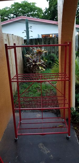 Red Metal Shelves for Sale in Pompano Beach, FL