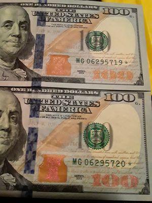 $100 bill Star notes for Sale in Grand Prairie, TX