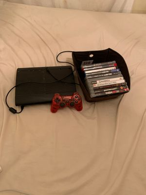 PS3 with games and controller for Sale in Miramar, FL