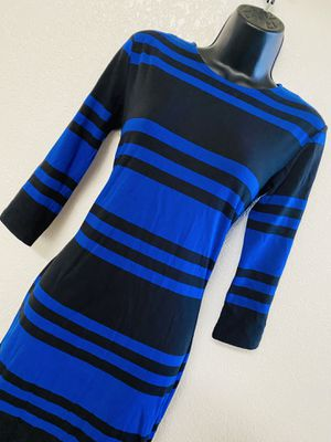 FRENCH COLLECTION, Blue & Black Striped Dress, Size 4 for Sale in Phoenix, AZ
