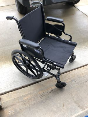 Invacare wheelchair with extra pad and leg supports for Sale in Raleigh, NC