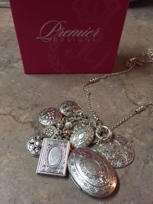 NEW Premier designs locket long necklace for Sale in Alexandria, VA
