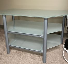 IKEA Frosted Glass & Metal TV Stand Table for Sale in Eatontown,  NJ