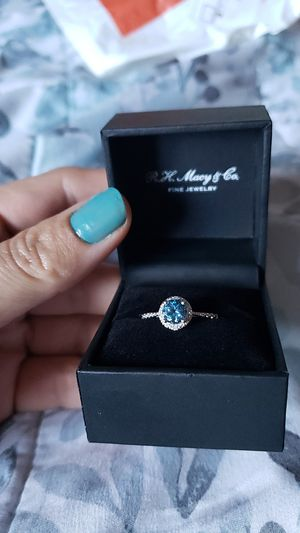 Macy's Silver with Blue topaz w diamond accents for Sale in Los Angeles, CA