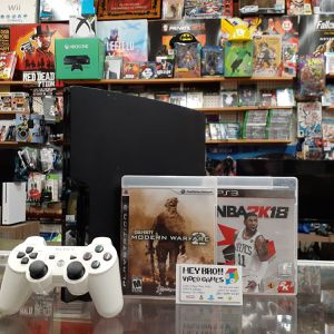 PlayStation 3 PS3 with NBA 2K18 and Call of Duty for Sale in Houston, TX