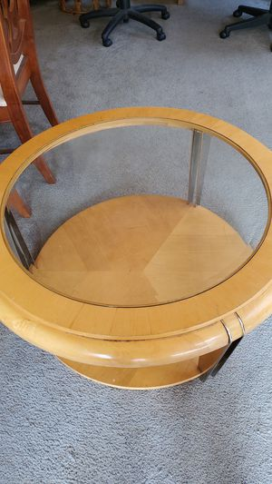 Round coffee table and 2 rectangle end tables for Sale in Emmaus, PA