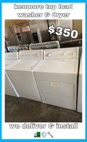 KENMORE TOP LOAD WASHER & GAS DRYER SET for Sale in Santa Ana, CA