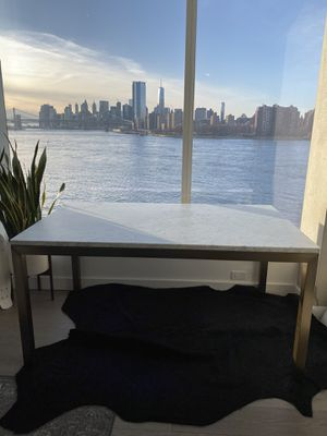 Crate and Barrel Parsons Marble Dining Table for Sale in New York, NY