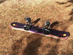 Inca Dual camber freestyle snowboard with Lamar bindings for Sale in Bend, OR