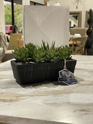 """Scott Living faux succulents in pot. 5.51"""" x 8.66"""" x 3.84"""". Retails $38. Our price $22 + sales tax for Sale in Woodstock, GA"""
