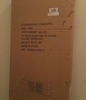 Espresso TV Stand - NEW for Sale in Warrenton, VA