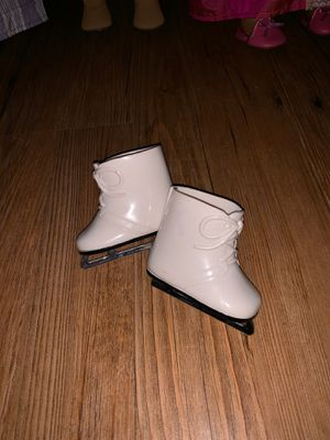 American Girl Doll 2nd pair of white iceskates for Sale in Haines City, FL