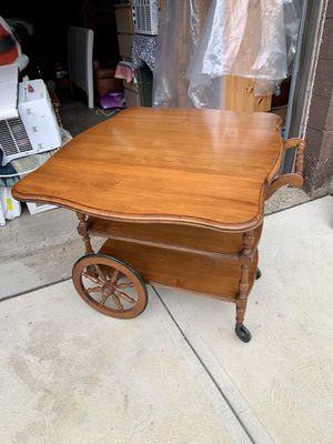 Pick up today VINTAGE PENNSYLVANIA HOUSE SOLID CHERRY TABLE CART Perfect condition!!! for Sale in Monroeville, PA