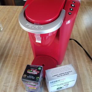 Brand New Red Keurig coffee maker with extras for Sale in Lebanon, PA