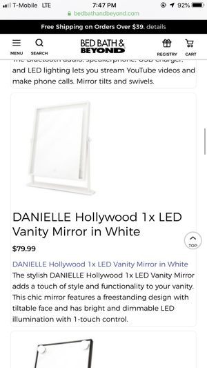 Brand new Led Vanity mirror Danielle Hollywood for Sale in Buffalo, NY