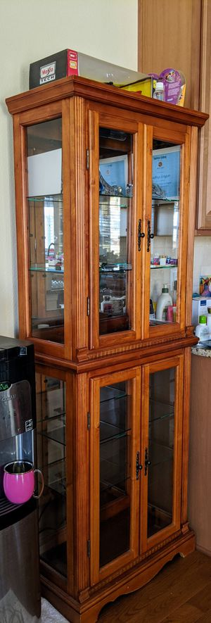 Antique cabinet glass for Sale in Parker, CO
