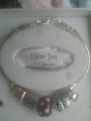 Mother daughter love charm bracelet for Sale in Birch River, WV