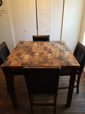 Marble dining table with 4 chairs for Sale in La Vergne, TN