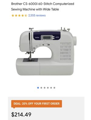 Brother CS6000i Sewing Machine with Wide Table for Sale in Greenbelt, MD