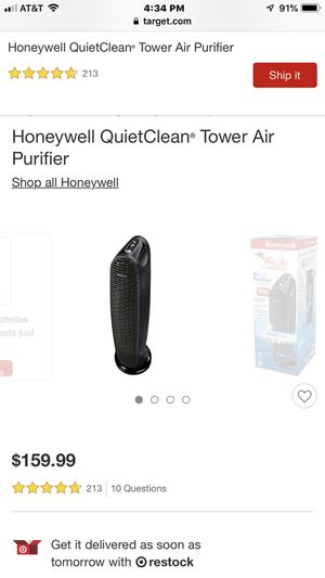 Two Honeywell QuietClean Air Purifiers for Sale in Erial, NJ
