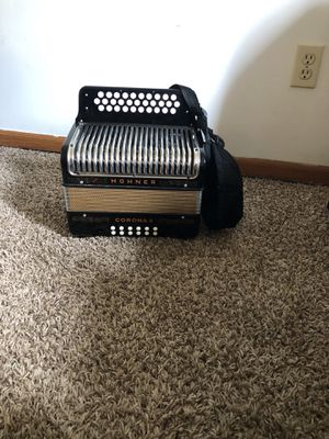 "Hohner corona 2 , in the key of GCF , sounds very nice , tuned , ready to play , used to belong to the accordion player from tejano sound band ""Johnn for Sale in Holland, MI"