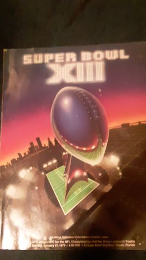 Super Bowl 13 Cowboys versus the Steelers from Sunday January 21st 1979 Orange Bowl Miami Florida for Sale in Moundsville, WV