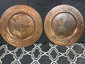 """Decorative Metal Disc Wall Art - Antique Copper x2 - 23"""" for Sale in Lake Forest, CA"""
