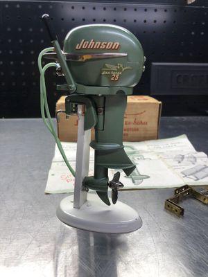 Vintage 1950s K&O Johnson 25 Sea-Horse Toy Boat Metal Outboard Motor for Sale in La Habra, CA