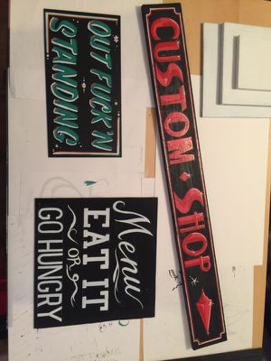 Hand painted signs for Sale in Chesapeake, VA