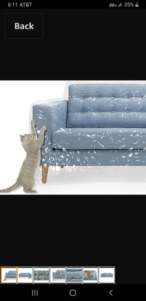 New Protector Plastic Couch Cover Pets | Cat Scratching Protector Clawing Deterrent | Heavy Duty Water Resistant Thick Clear Vinyl | Sofa Slipover for Sale in Las Vegas, NV