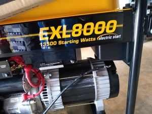 Briggs & Stratton Portable Generator EXL8000 13500 Starting Watts Model 030244 for Sale in St. Louis, MO