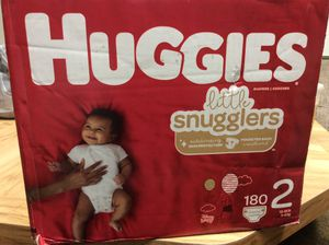 Huggies Little Snugglers size 2 ... 12-18lbs .... count 180 diapers for Sale in Baden, PA